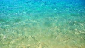 Ola oceánica, textura en el agua, fondo de la aguamarina Foto de archivo libre de regalías