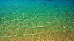 Ola oceánica, textura en el agua, fondo de la aguamarina Fotografía de archivo