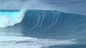 Ola oceánica vacía almacen de video