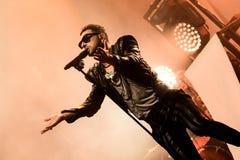 Ola Salo jest Szwedzkim rockowym piosenkarzem Obraz Royalty Free
