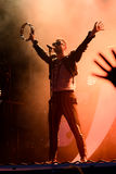 Ola Salo jest Szwedzkim rockowym piosenkarzem obraz stock