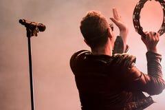 Ola Salo jest Szwedzkim rockowym piosenkarzem Zdjęcia Royalty Free