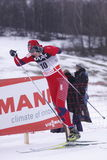 Ola Vigen Hattested - winner of ski sprint race Stock Photos