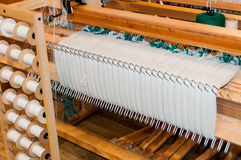 Olad wooden loom Stock Photo