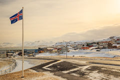 Olafsvik city in Iceland Royalty Free Stock Photos