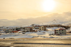 Olafsvik city in Iceland Royalty Free Stock Photo