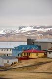 Olafsvik, kleine stad, westelijk IJsland, raincloud Stock Afbeelding