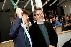 Olafur eliasson_artist wyjawia jego nową projekt lampę w tivoli Gard Obraz Royalty Free