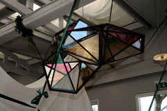 Olafur eliasson_artist wyjawia jego nową projekt lampę w tivoli Gard Fotografia Royalty Free