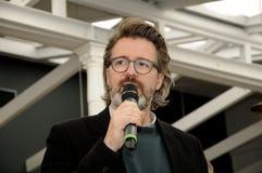 Olafur eliasson_artist wyjawia jego nową projekt lampę w tivoli Gard Zdjęcie Stock