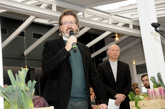 Olafur eliasson_artist wyjawia jego nową projekt lampę w tivoli Gard Obrazy Royalty Free