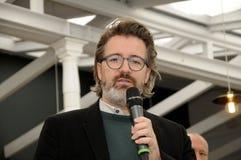 Olafur eliasson_artist wyjawia jego nową projekt lampę w tivoli Gard Obraz Stock