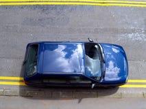 olaglig parkering Arkivfoto