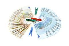 Olagliga kontanta euro för penningtvätt Royaltyfri Foto