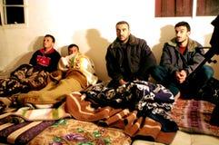 Olagliga palestinska arbetare i Israel Arkivbild