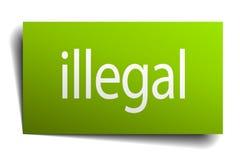 olagligt tecken stock illustrationer