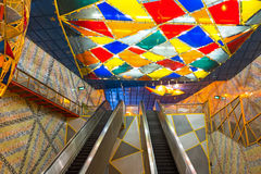 Olaias metro station in Lisbon Portugal. Europe stock photography