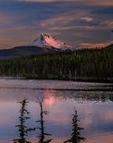 Olallie See-Sonnenuntergang Stockfotos