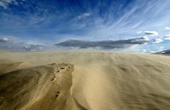 Olancha. Sand storm at Olancha Dunes in California Royalty Free Stock Images