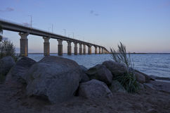 The Oland Bridge, Kalmar, Sweden Stock Image