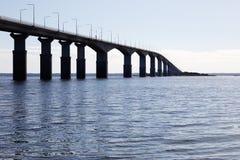 Oland bridge. The Oland bridge seen from the Swedish mainland royalty free stock photos