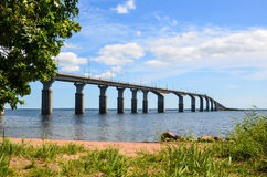 Oland Bridge, Sweden Stock Photo