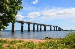 Oland Bridge, Sweden. Oland Bridge connecting the island Oland to mainland Sweden stock photo