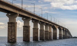 Oland Bridge, Sweden. Oland Bridge connecting the island Oland to mainland Sweden stock images