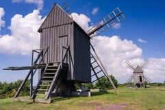 Oland Island windmills in summer season Stock Photo