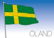 Oland regional flag, Sweden, vector illustration stock photos