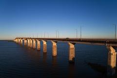 Oland bridge. The Oland road bridge a box girder bridge to the Swedish Oland island seen from the mainland royalty free stock images