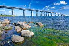 Oland's bridge in summer season Royalty Free Stock Photos