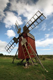 Oland, Sweden. Photo of a windmill on Oland, Sweden royalty free stock photos