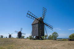 Oland - wyspa wiatry i słońce Obrazy Stock