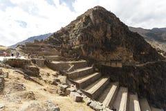 Olantaytamboo,考古学站点,印加人,秘鲁 免版税库存照片