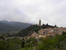 Olargues, a village in herault, languedoc, france. Olargues, a village in herault, a department of the region Languedoc, france stock photography