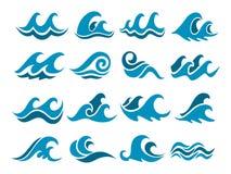 Olas oceánicas abstractas stock de ilustración