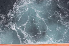 Olas oceánicas desde arriba Foto de archivo libre de regalías