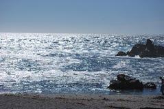 Olas oceánicas en el Océano Pacífico Imagenes de archivo