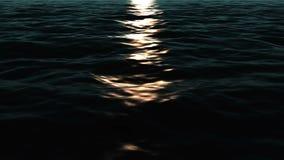 Olas oceánicas en la puesta del sol stock de ilustración