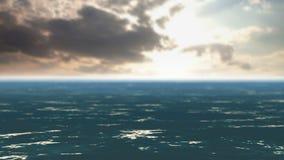 Olas oceánicas y nubes rápidas almacen de video