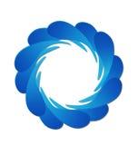 Olas oceánicas y salpicar el logotipo del agua Imagenes de archivo