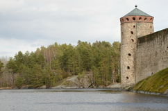 Olavinlinnа fortress Royalty Free Stock Images