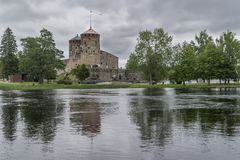 Olavinlinna城堡,萨翁林纳,芬兰 库存图片