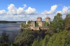 Olavinlinna城堡 库存照片