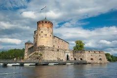 Olavinlinna城堡 库存图片