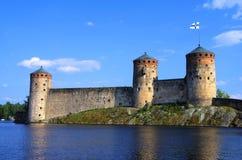 Olavinlinna堡垒 库存照片
