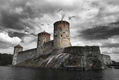 Olavinlinna Royaltyfri Fotografi