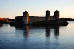 Olavinlinna castle Royalty Free Stock Photos