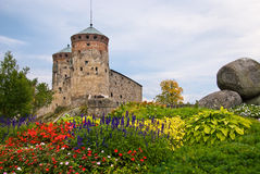 Olavinlinna castle. Olavinlinna medieval castle in eastern Finland in the city of Savonlinna Stock Photos